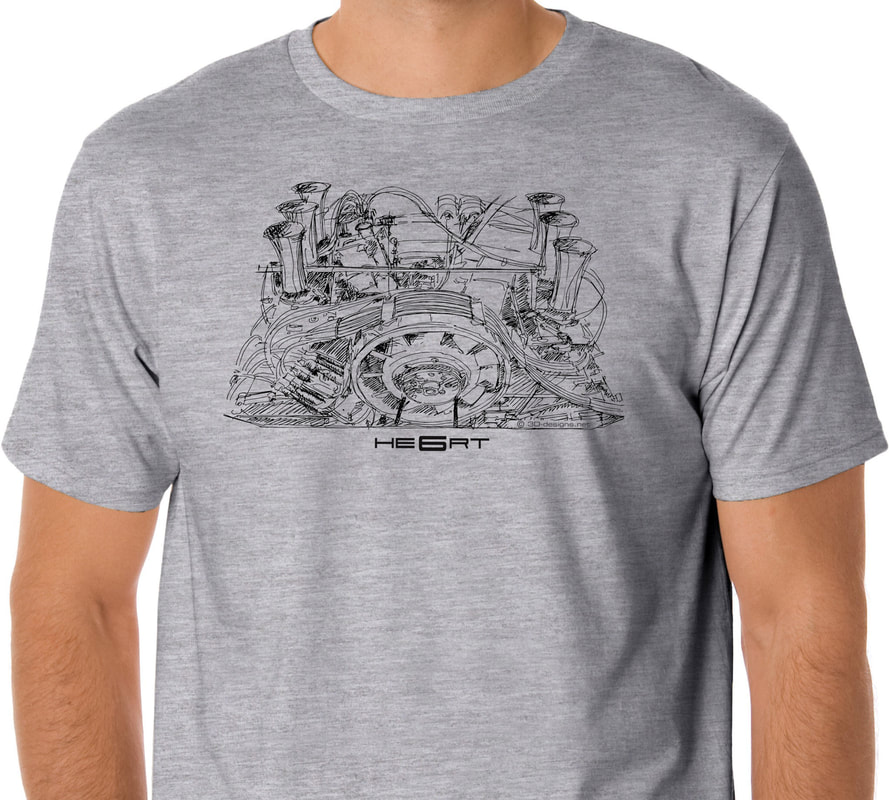 Porsche 911 RSR Engine T Shirt